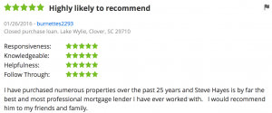 NSH Mortgage Broker Zillow Review