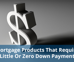 Mortgage Products That Require Little Or Zero Down Payment